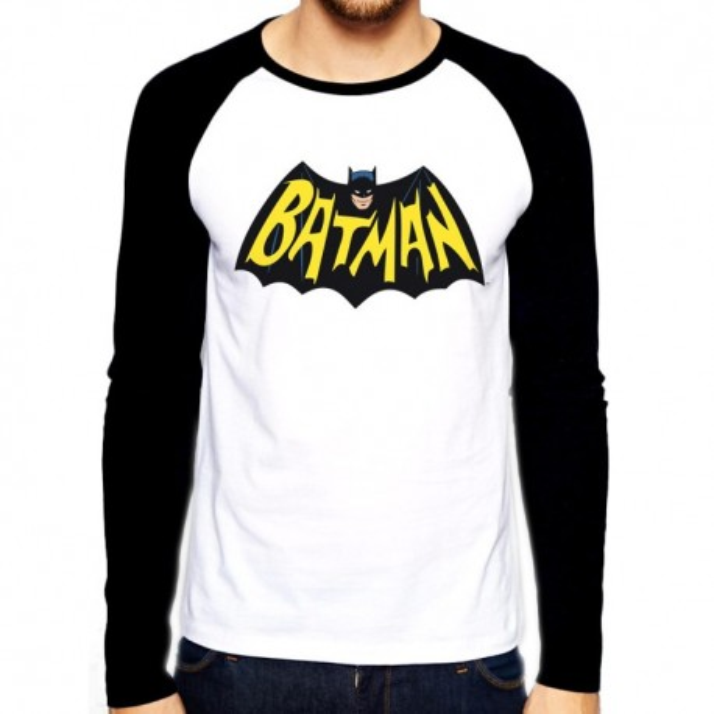 Pitkähihanen t-paita Batman 1966 logo