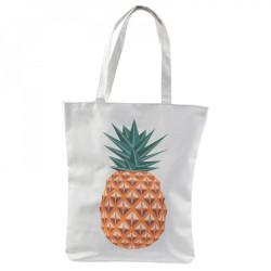 Ananas puuvillakassi vetoketjulla