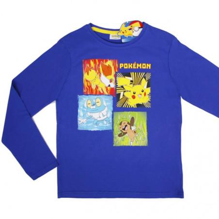 Lasten pitkähihainen t-paita Pokemon sininen