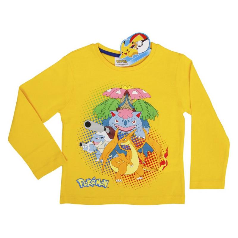 Lasten pitkähihainen t-paita Pokemon keltainen