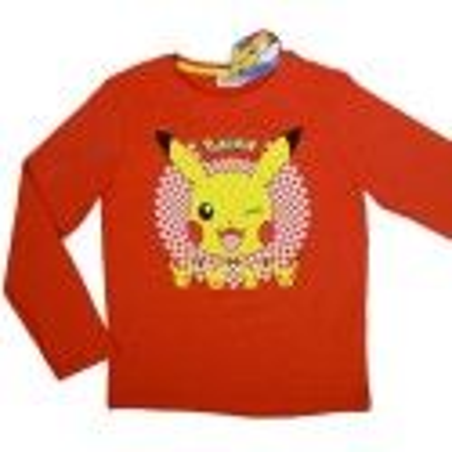 Lasten pitkähihainen t-paita Pokemon punainen