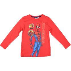 Lasten pitkähihainen t-paita Spiderman punainen