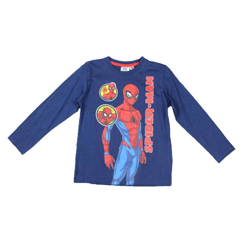 Lasten pitkähihainen t-paita Spiderman sininen