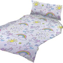 Lasten pussilakanasetti Unicorn